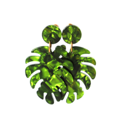Oorbellen resin blad