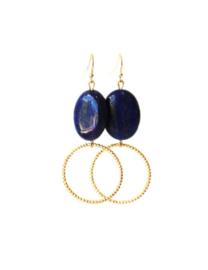 Oorbellen met lapis lazuli en ring