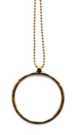 Ketting met cirkel oud goud