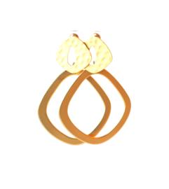 Oorbellen met oorsteker vintage goldplated