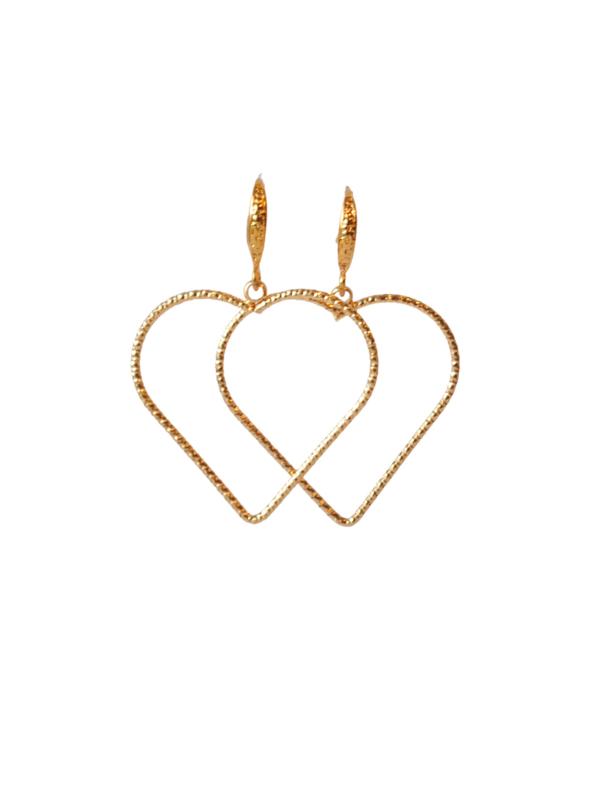 Oorbellen hart 24K goldplated