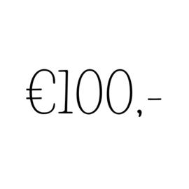 Kadobon | €100,-