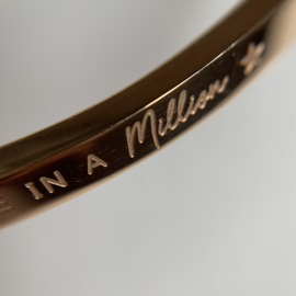 Armband 'You are one in a MILLION' (Roségoud)