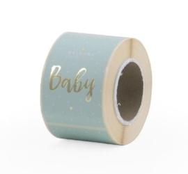 Sluitzegel sticker | WELCOME BABY | mintgroen 20 stuks