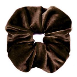 Scrunchie Velvet Donkerbruin