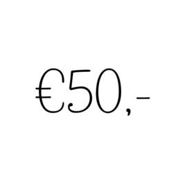 Kadobon | €50,-