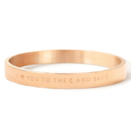 Armband 'Love you to the moon and back' (Roségoud)