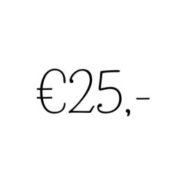 Kadobon | €25,-