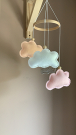 Wolkenmobile SMALL peach, roze, wit, taupe gemêleerd