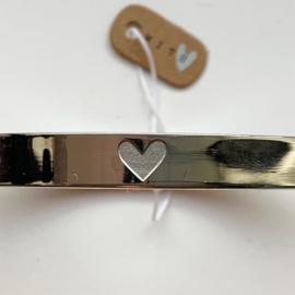 Armband 'HEART' (Zilverkleurig)