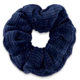 Scrunchie Corduroy Donkerblauw