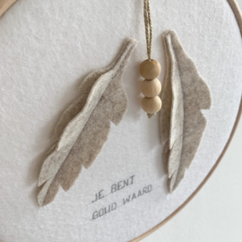 Muurhanger | BEAUTIFUL LEAVES | JE BENT GOUD WAARD