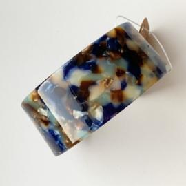 Armband 'RESIN' (blauw/grijsbruin)