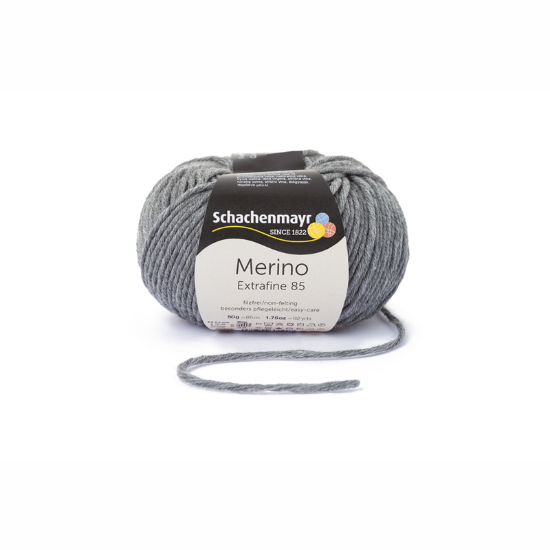 Schachenmayr Merino Extrafine 85 middelgrijs