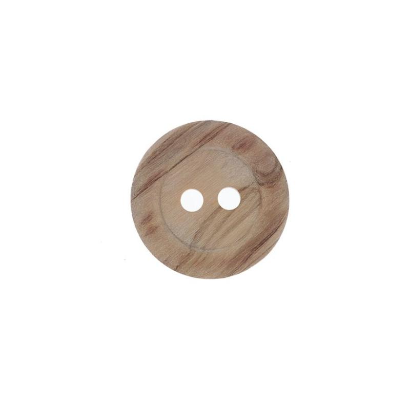 Houten knoop 15 mm