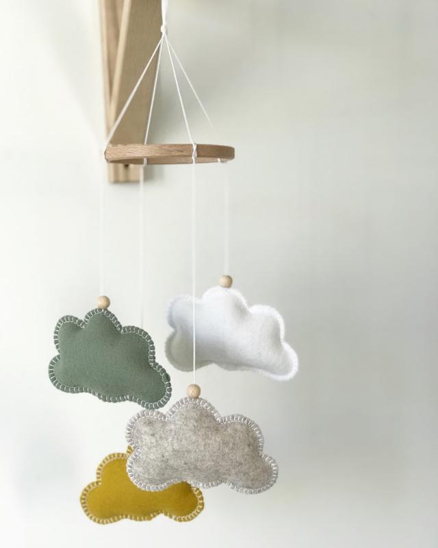 Wolkenmobile SMALL | Kies zelf je kleuren
