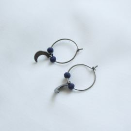 Tiny moon hoops - zilver