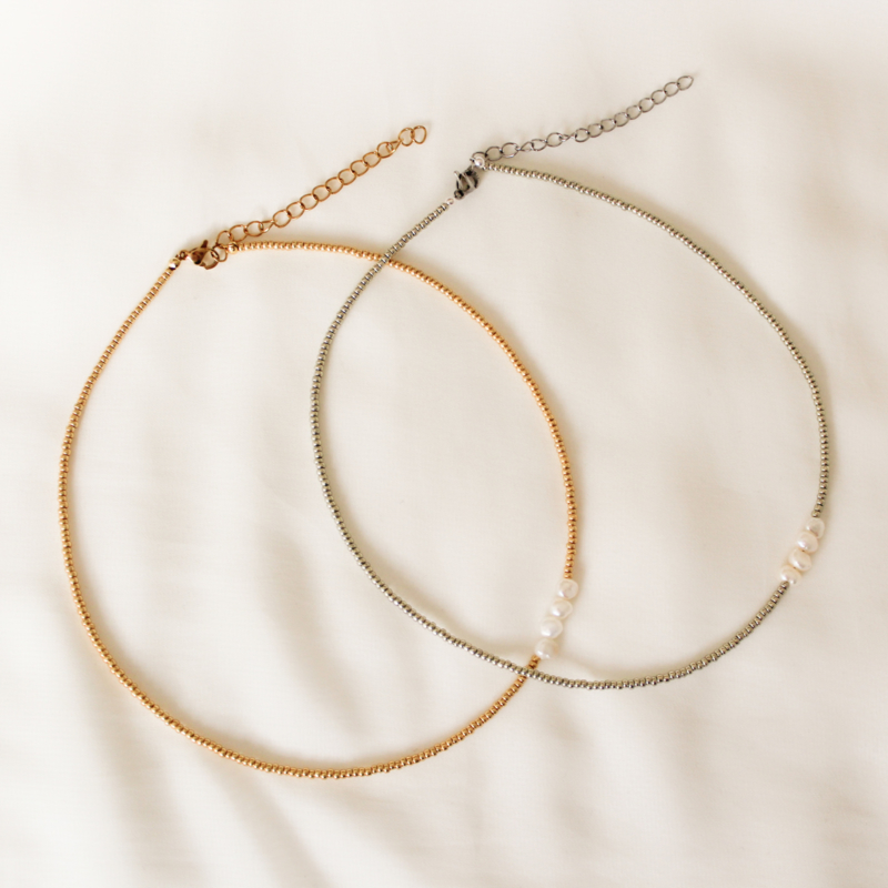 Pearly details - Choker