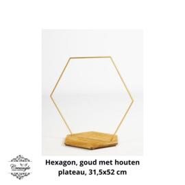 Staande krans, hexagon