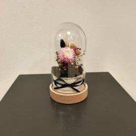 Mini stolp met droogbloemen