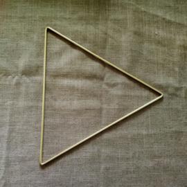 Metalen driehoek 25 cm (afgerond)