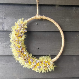 Wandhanger ronde touw krans 35cm