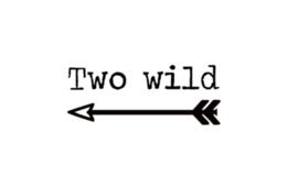Strijkapplicatie | Two wild | Stoer