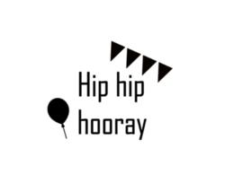 Strijkapplicatie | Hip hip hooray | Stoer