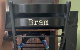 Kinderstoel naam sticker | Stoer