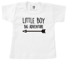 Geboorte T-shirt   Little boy big adventure