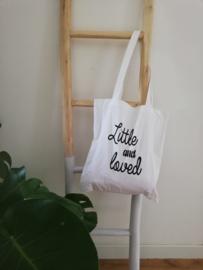 Stoffen tas met opdruk