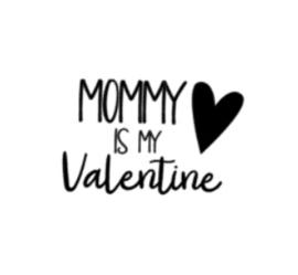 Strijkapplicatie | mommy is my valentine