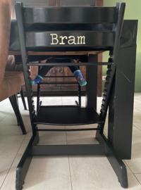 Kinderstoel naam sticker   Stoer