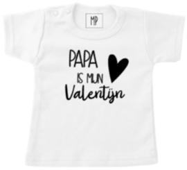 Valentijn T-shirt | Papa is mijn valentijn