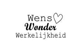 Strijkapplicatie | Wens, Wonder, Werkelijkheid