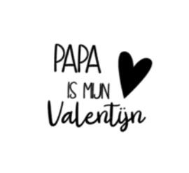 Strijkapplicatie | papa is mijn valentijn