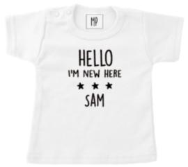 Geboorte T-Shirt   Hello I'm new here