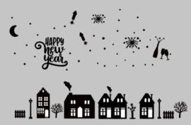 Raamsticker | Basis set inclusief Merry Christmas en oud en nieuw