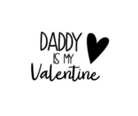 Strijkapplicatie | daddy is my valentine