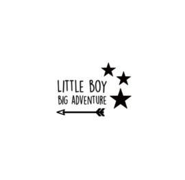 Raamsticker | Little boy big adventure pijl
