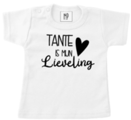 Familie T-shirt | Tante is mijn lieveling