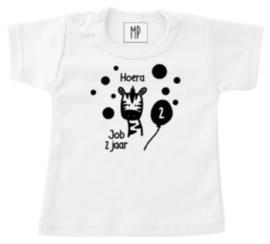 Verjaardag T-Shirt | Zebra |  Stoer