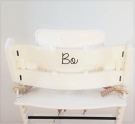 Kinderstoel naam sticker | Sierlijk