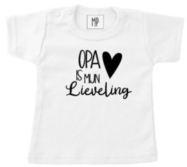 Familie T-shirt | Opa is mijn lieveling