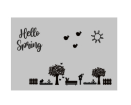 Raamstickers Lente | Hello spring