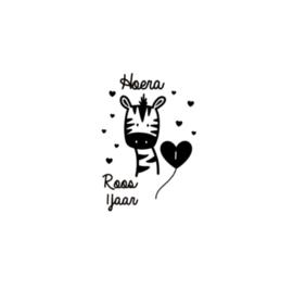 Raamsticker | Zebra