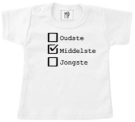 Geboorte T-Shirt   Oudste, middelste en jongste