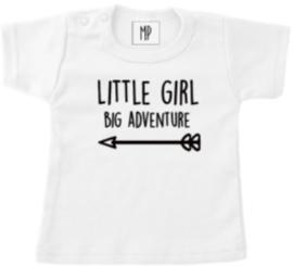 Geboorte T-Shirt   Little girl big adventures