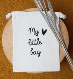 Katoenen tasje  | My little bag met hartje