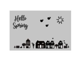 Raamstickers uitbreiding lente | Hello spring